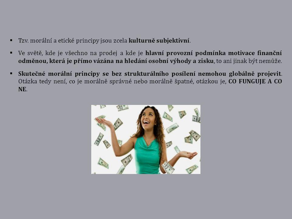 Tzv. morální a etické principy jsou zcela kulturně subjektivní.