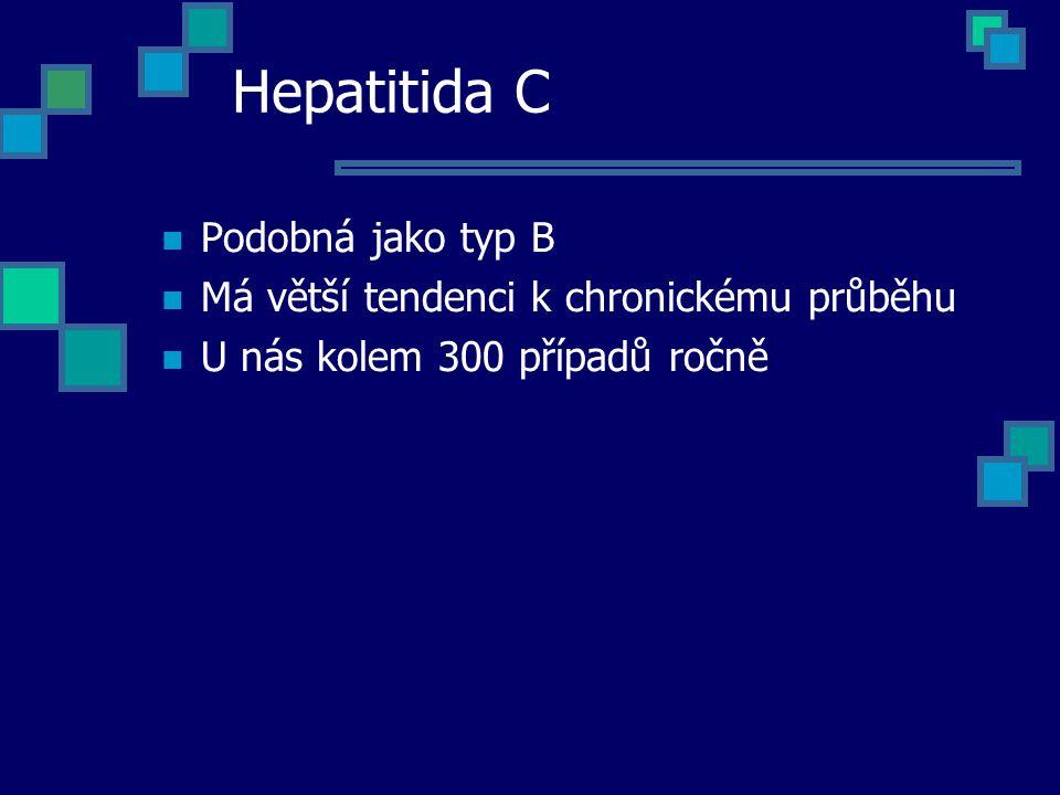 Hepatitida C Podobná jako typ B
