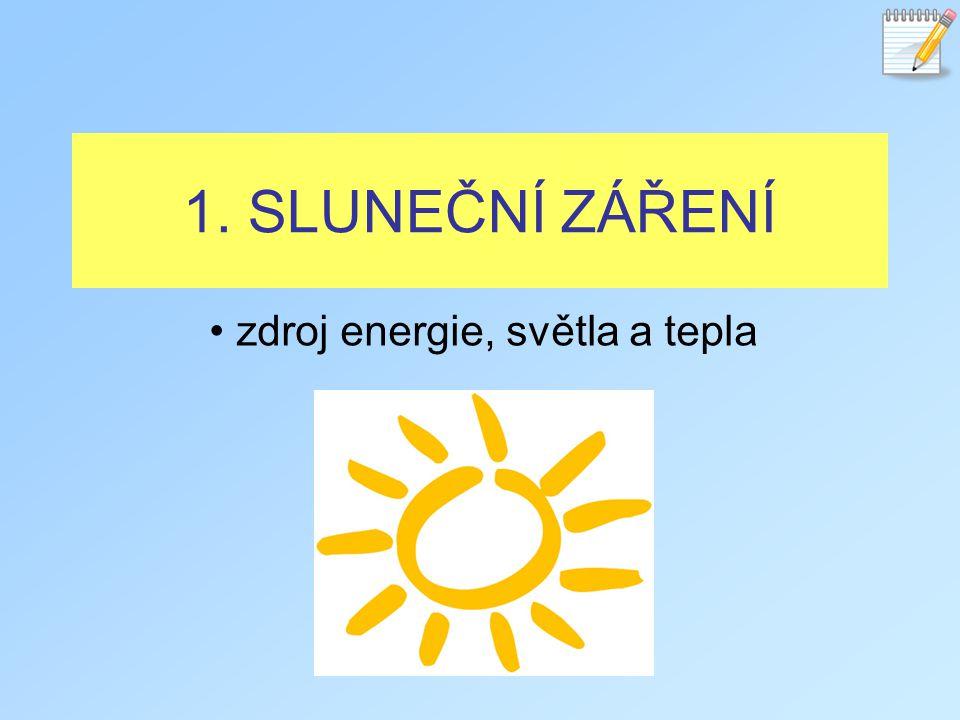 zdroj energie, světla a tepla