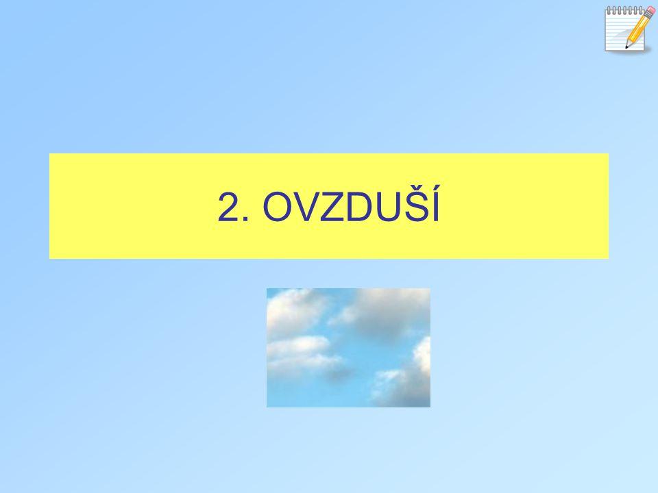 2. OVZDUŠÍ
