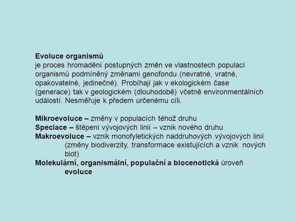 Evoluce organismů