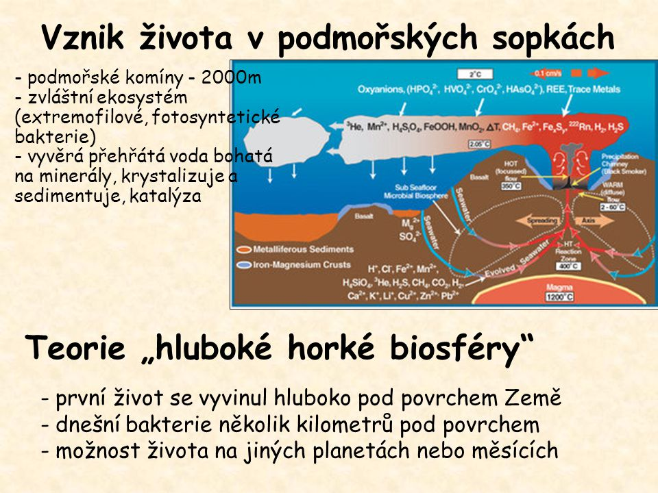 Vznik života v podmořských sopkách