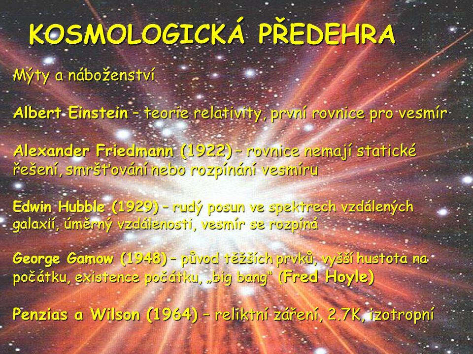 KOSMOLOGICKÁ PŘEDEHRA