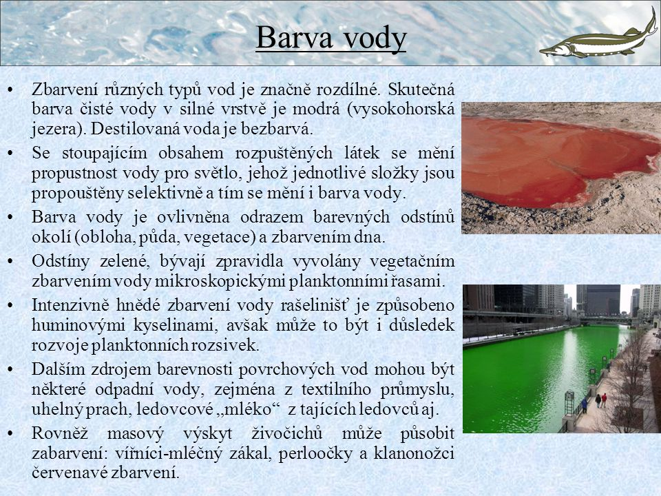 Barva vody