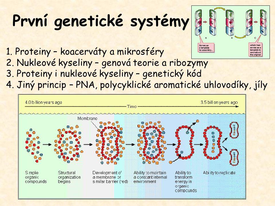První genetické systémy
