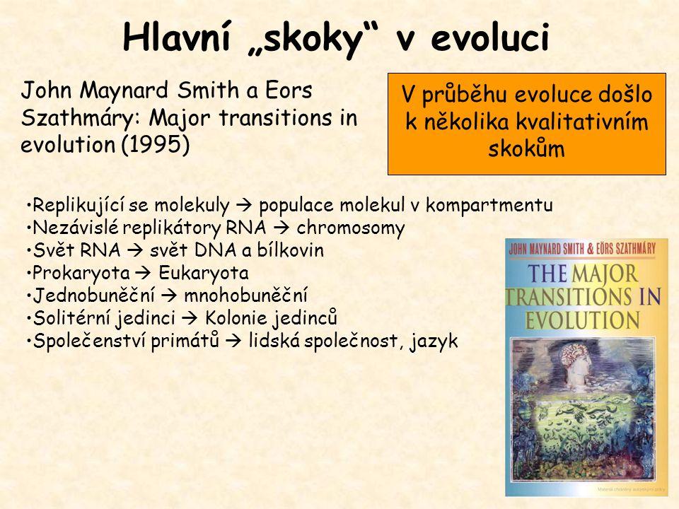 V průběhu evoluce došlo k několika kvalitativním skokům