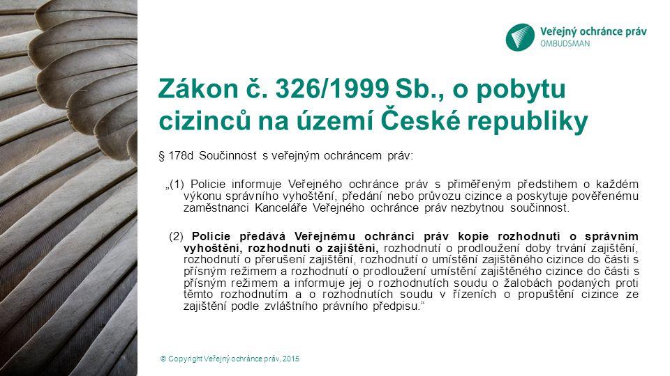 Zákon č. 326/1999 Sb., o pobytu cizinců na území České republiky