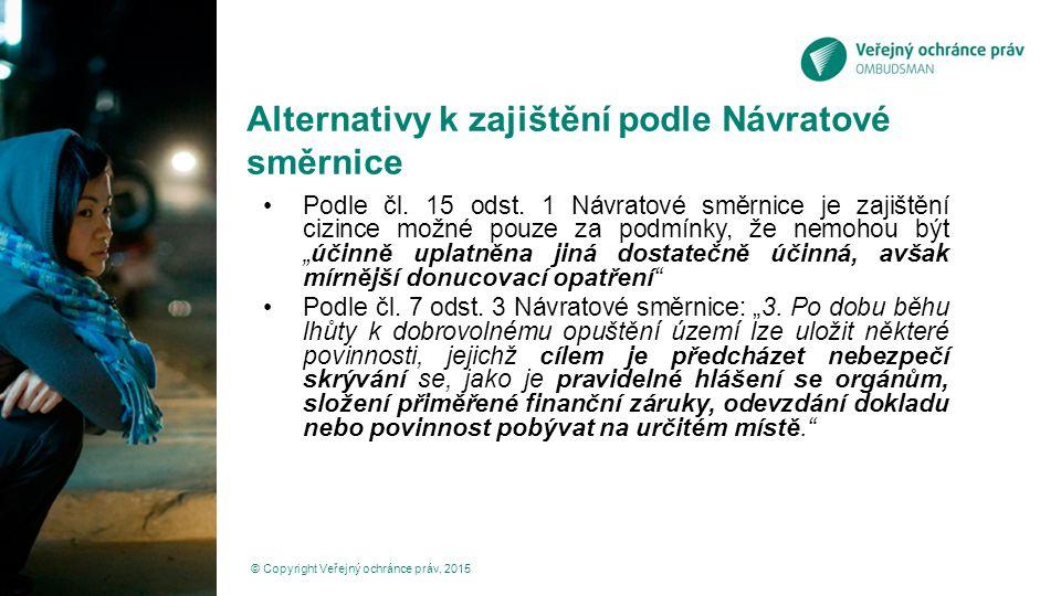Alternativy k zajištění podle Návratové směrnice