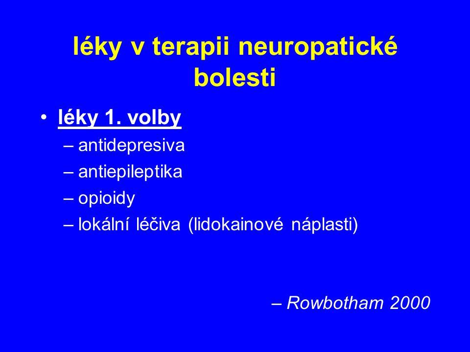 léky v terapii neuropatické bolesti