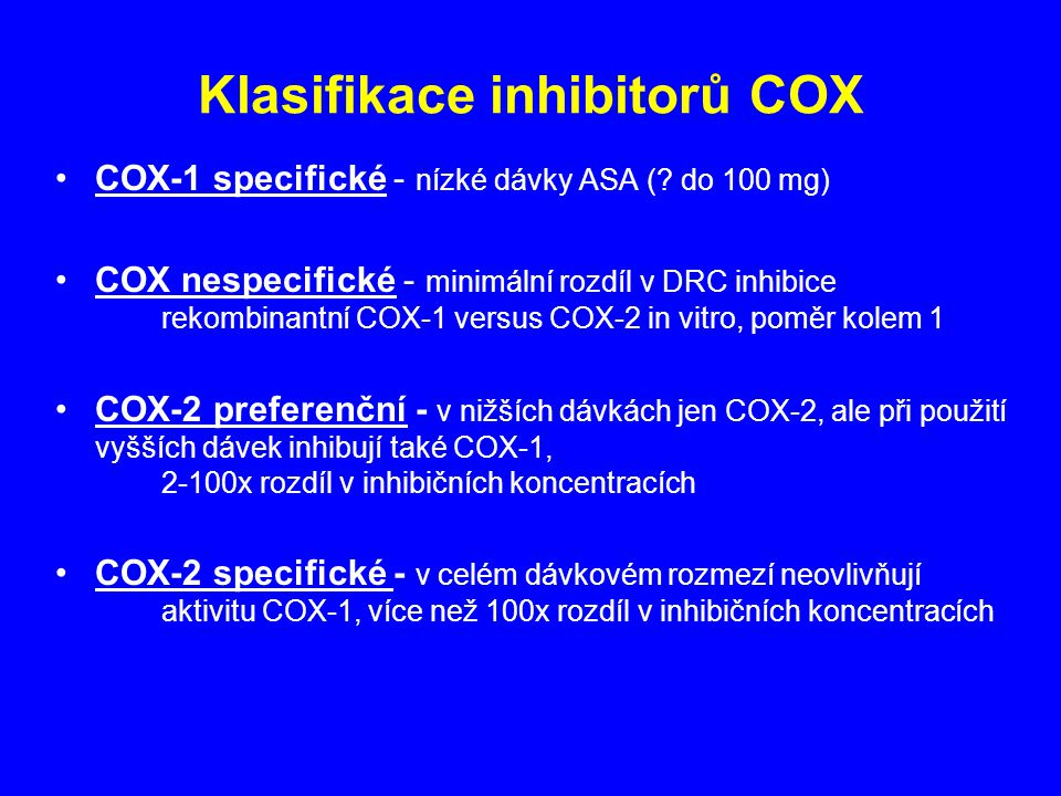 Klasifikace inhibitorů COX