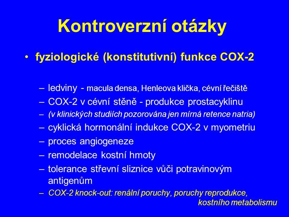 Kontroverzní otázky fyziologické (konstitutivní) funkce COX-2