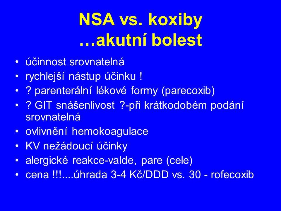 NSA vs. koxiby …akutní bolest
