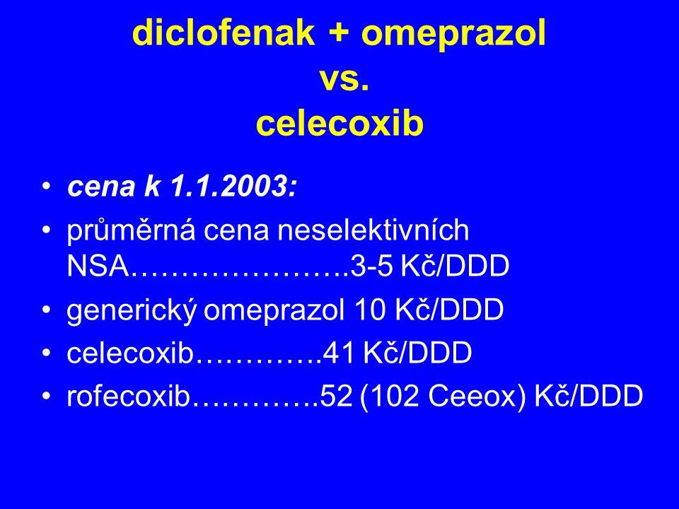 diclofenak + omeprazol vs. celecoxib