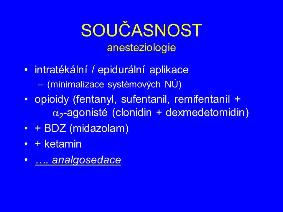 SOUČASNOST anesteziologie