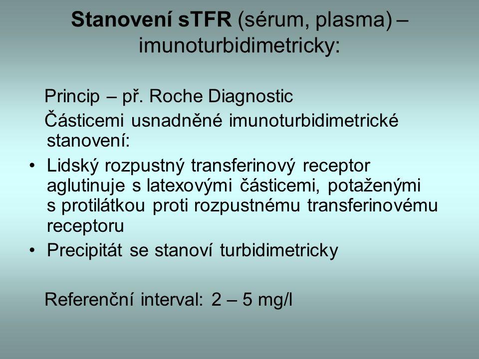 Stanovení sTFR (sérum, plasma) – imunoturbidimetricky: