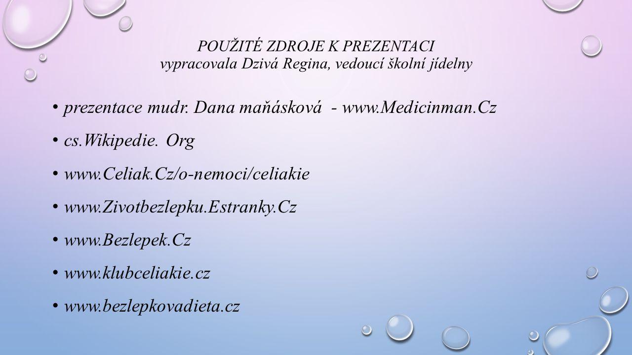 prezentace mudr. Dana maňásková - www.Medicinman.Cz cs.Wikipedie. Org