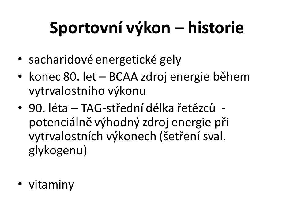 Sportovní výkon – historie