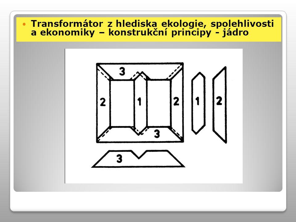 Transformátor z hlediska ekologie, spolehlivosti a ekonomiky – konstrukční principy - jádro