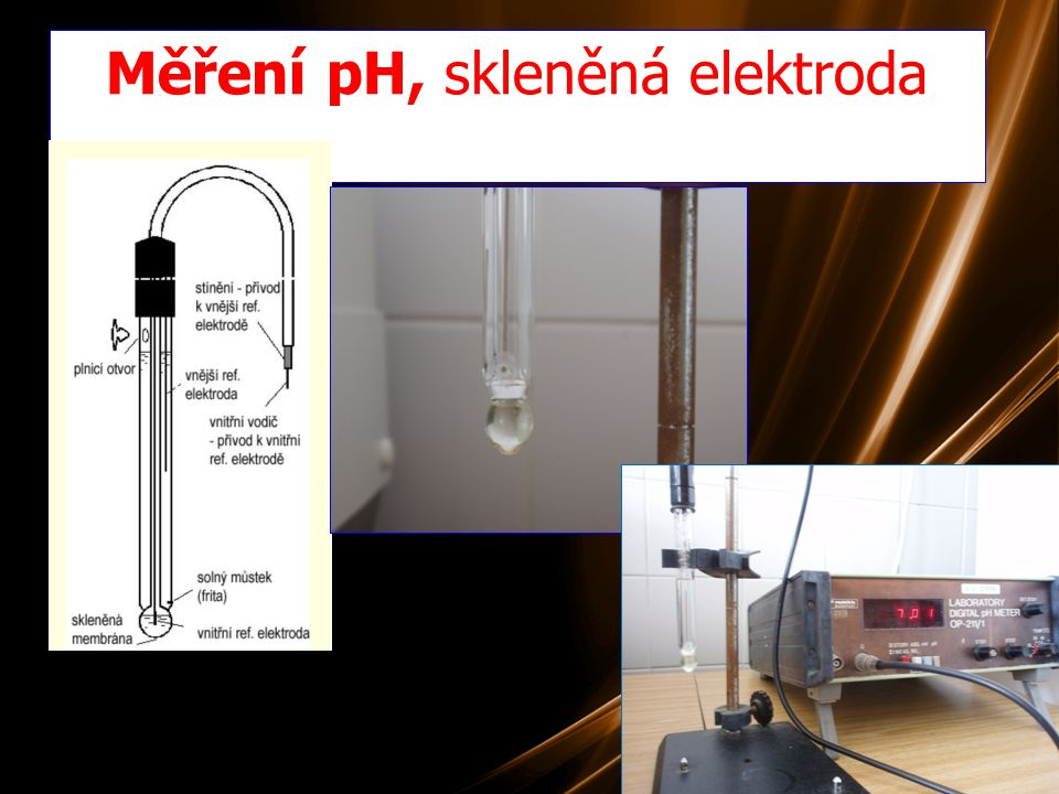 Měření pH, skleněná elektroda