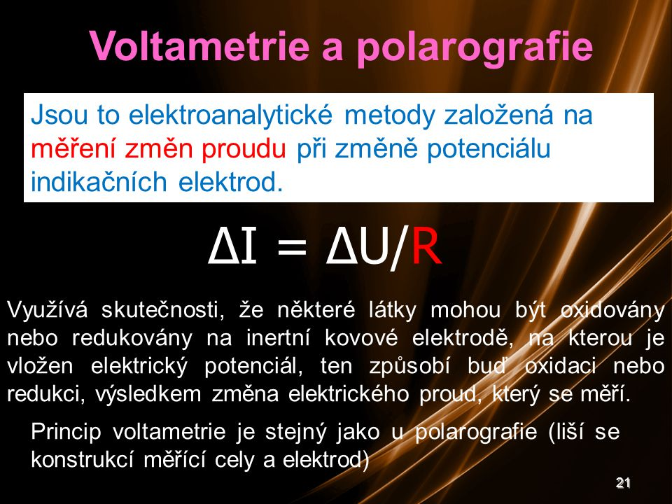 Voltametrie a polarografie