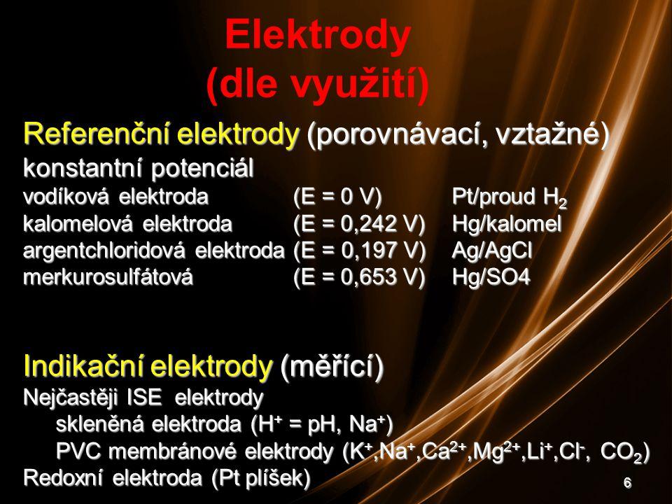 Elektrody (dle využití)