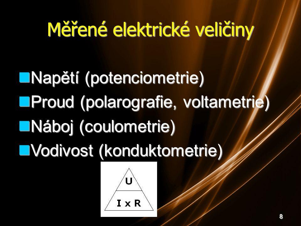 Měřené elektrické veličiny