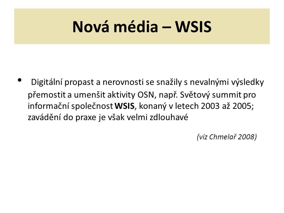 Nová média – WSIS
