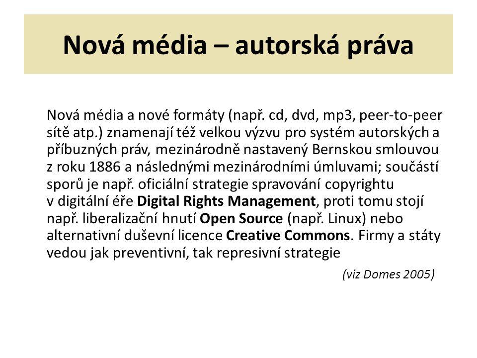 Nová média – autorská práva
