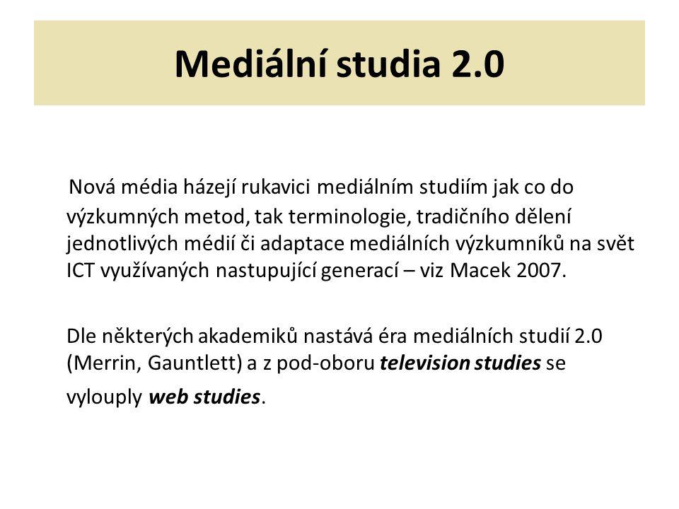 Mediální studia 2.0