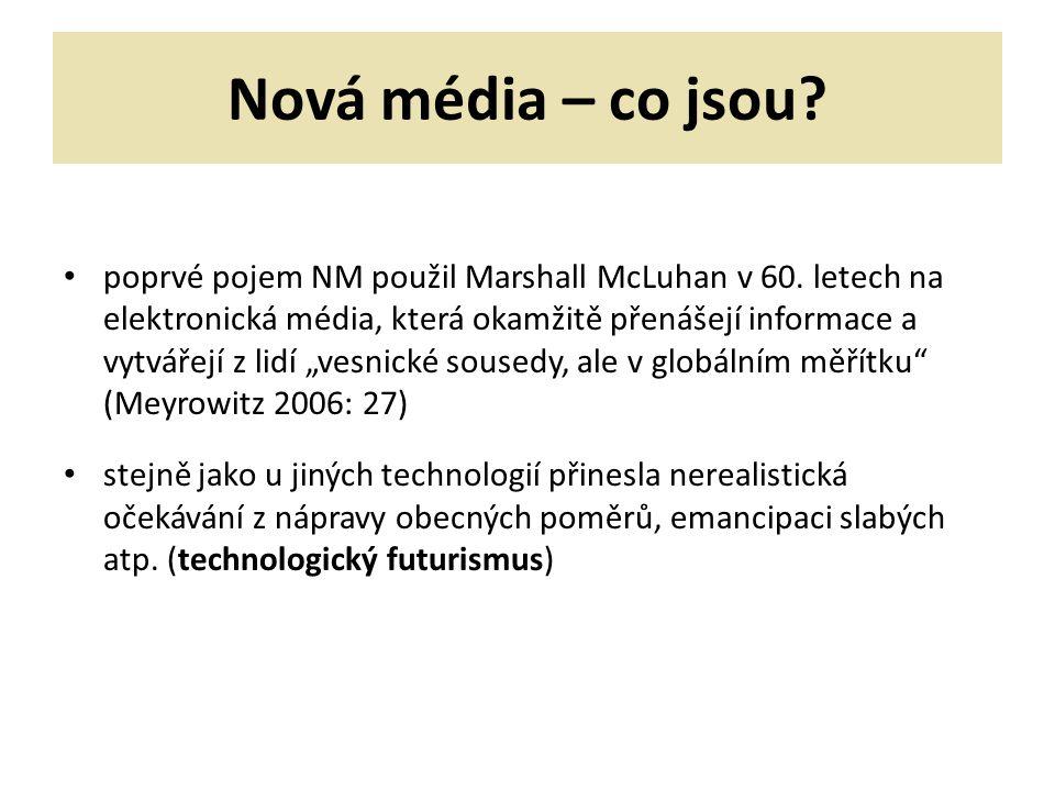 Nová média – co jsou