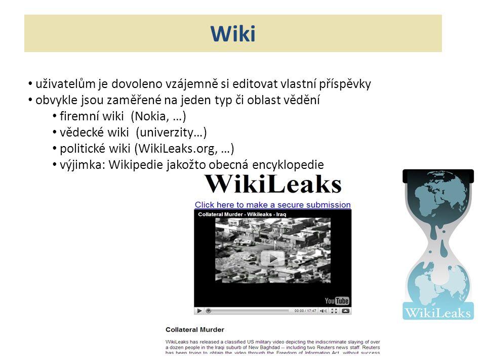 Wiki uživatelům je dovoleno vzájemně si editovat vlastní příspěvky