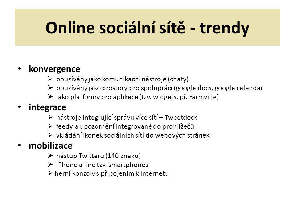 Online sociální sítě - trendy
