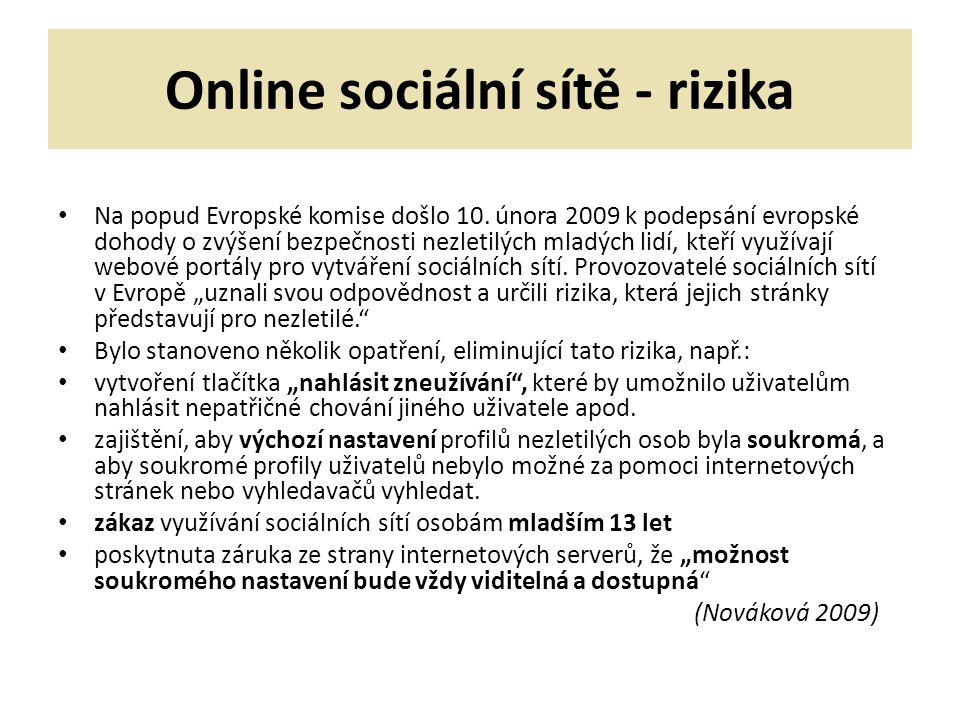 Online sociální sítě - rizika
