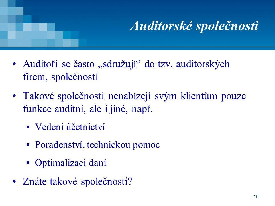Auditorské společnosti