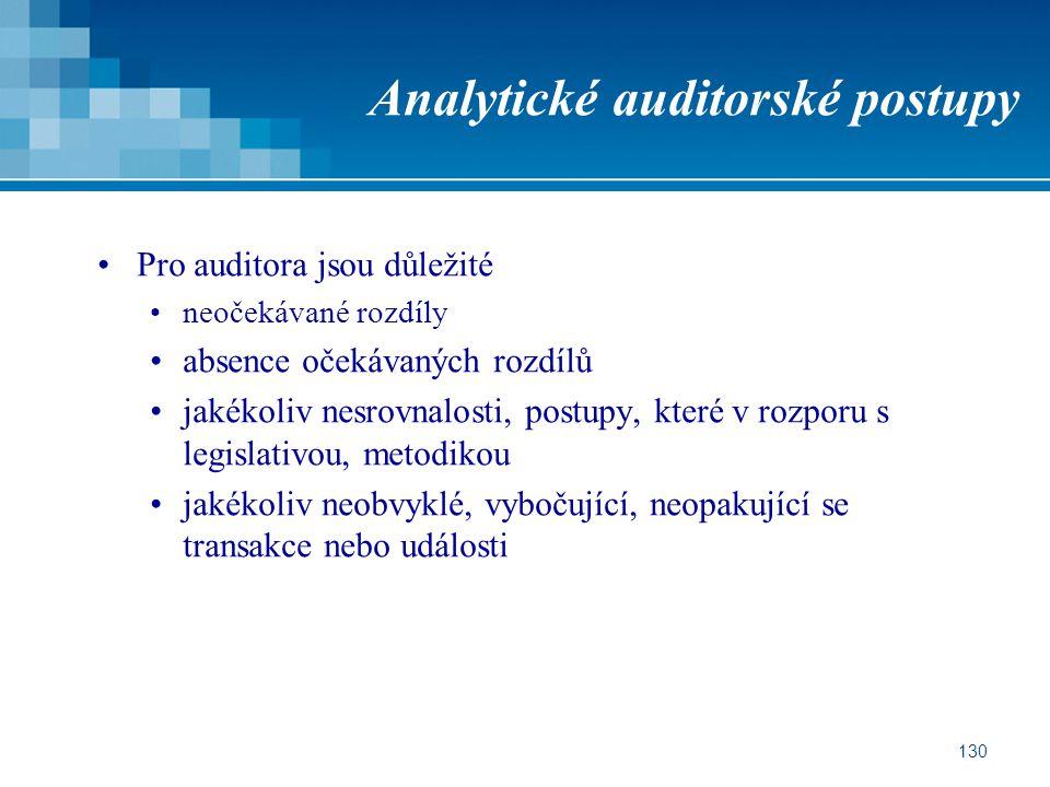 Analytické auditorské postupy