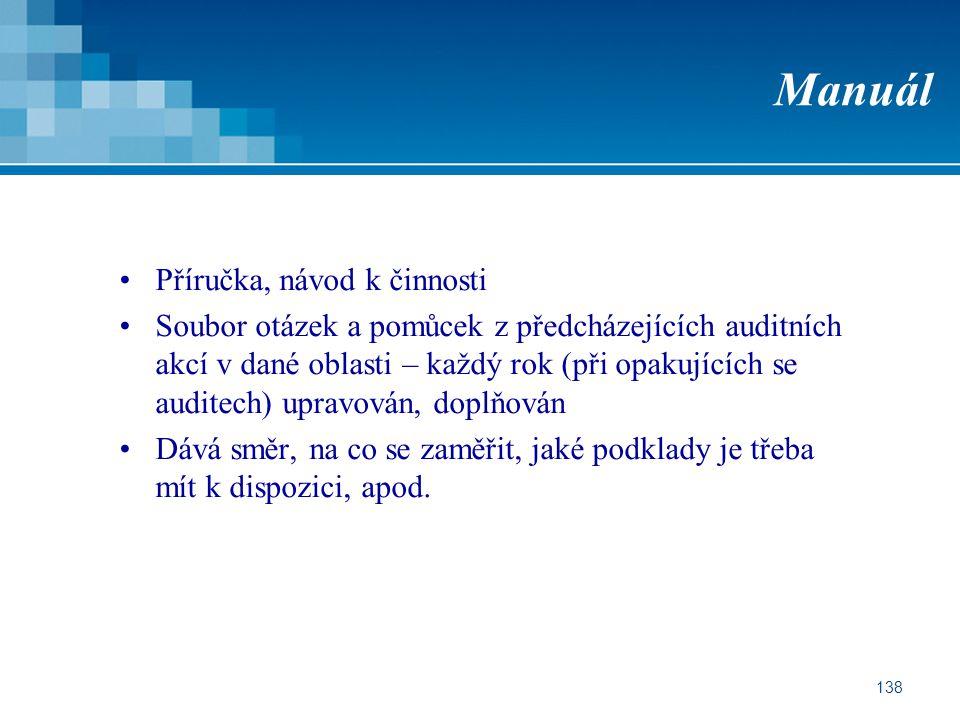 Manuál Příručka, návod k činnosti