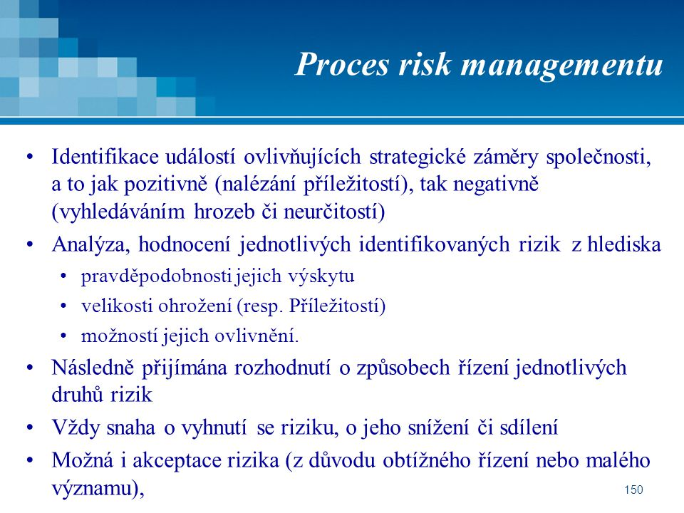 Proces risk managementu