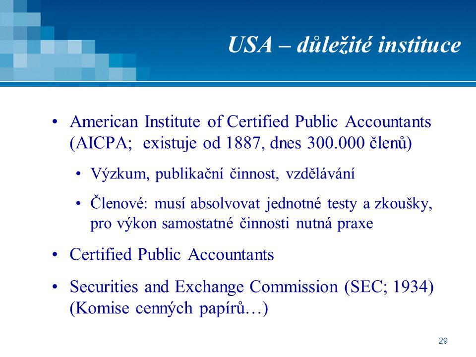 USA – důležité instituce