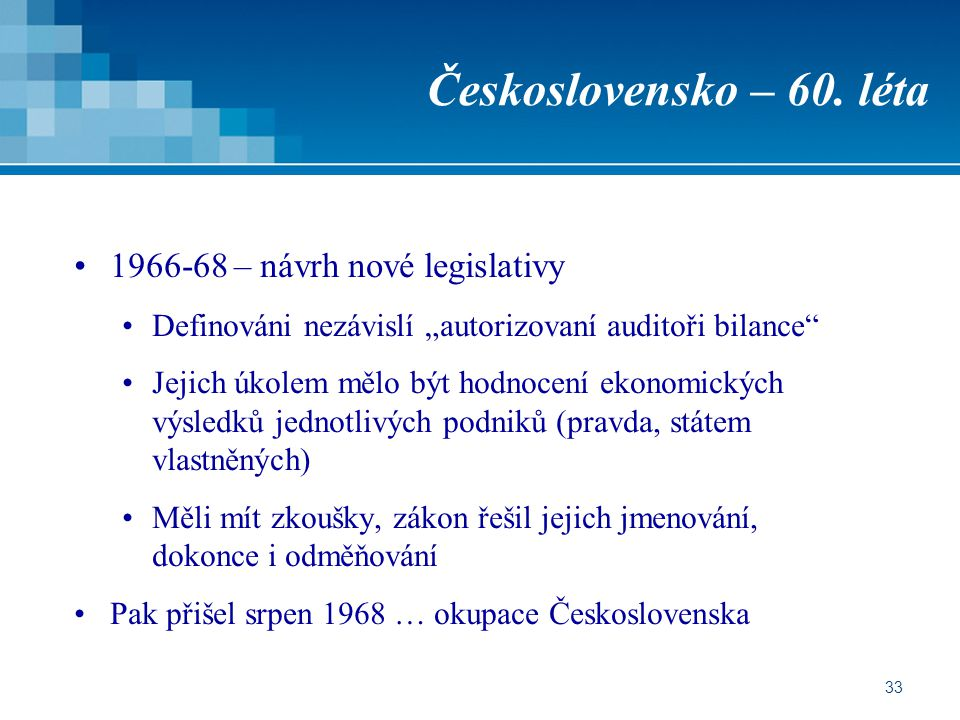 Československo – 60. léta 1966-68 – návrh nové legislativy