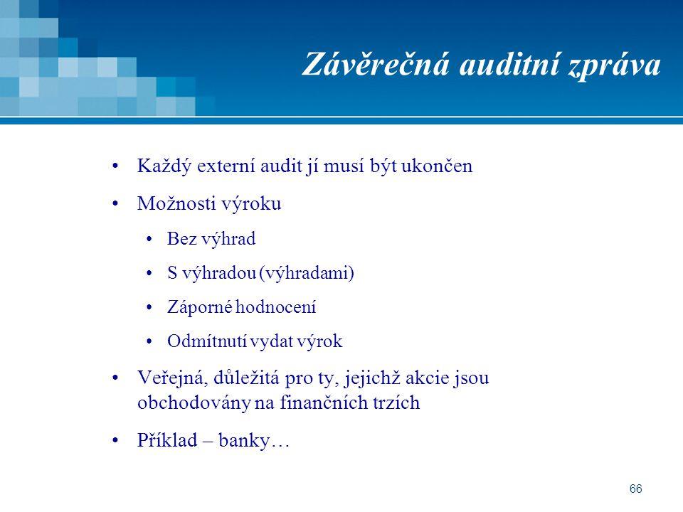 Závěrečná auditní zpráva
