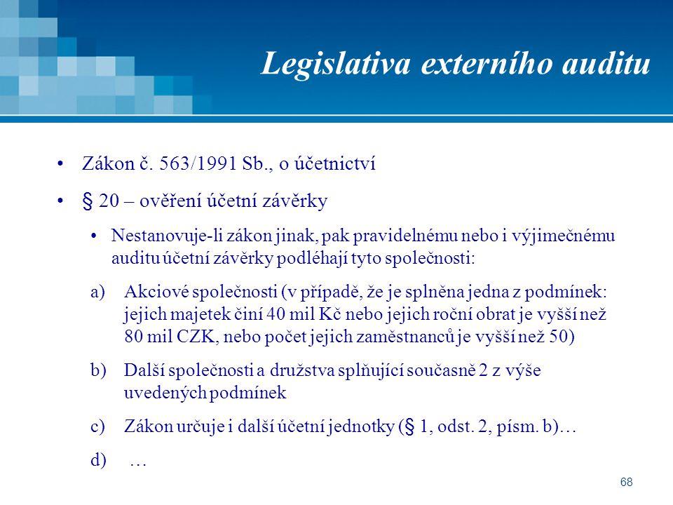 Legislativa externího auditu
