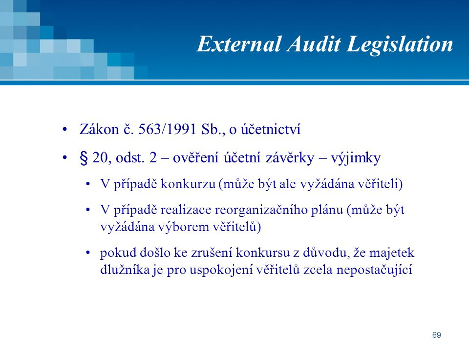 External Audit Legislation