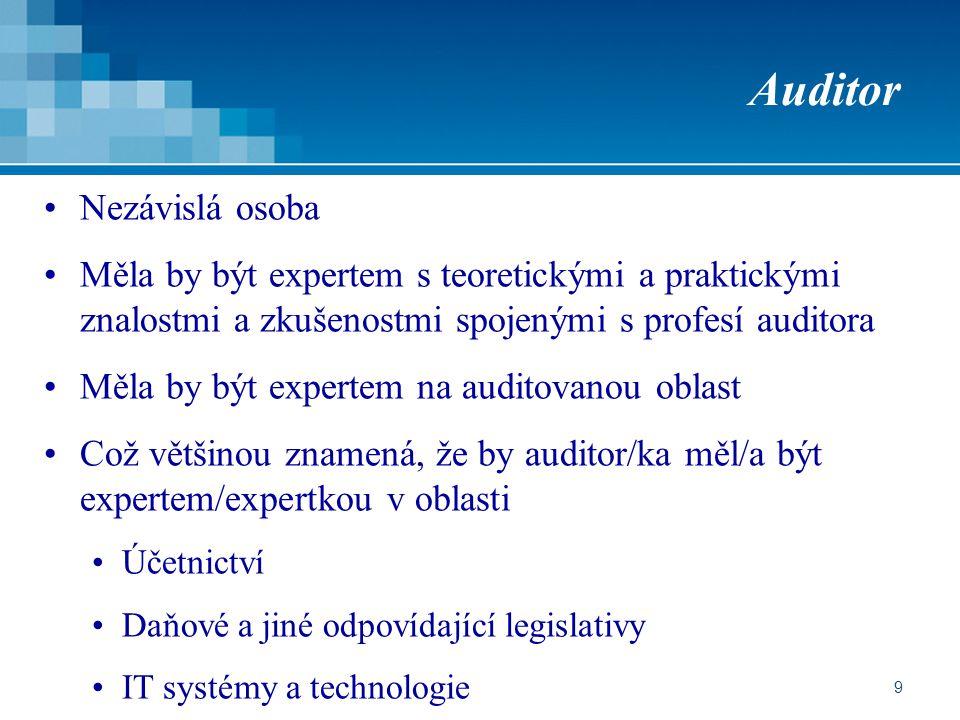 Auditor Nezávislá osoba