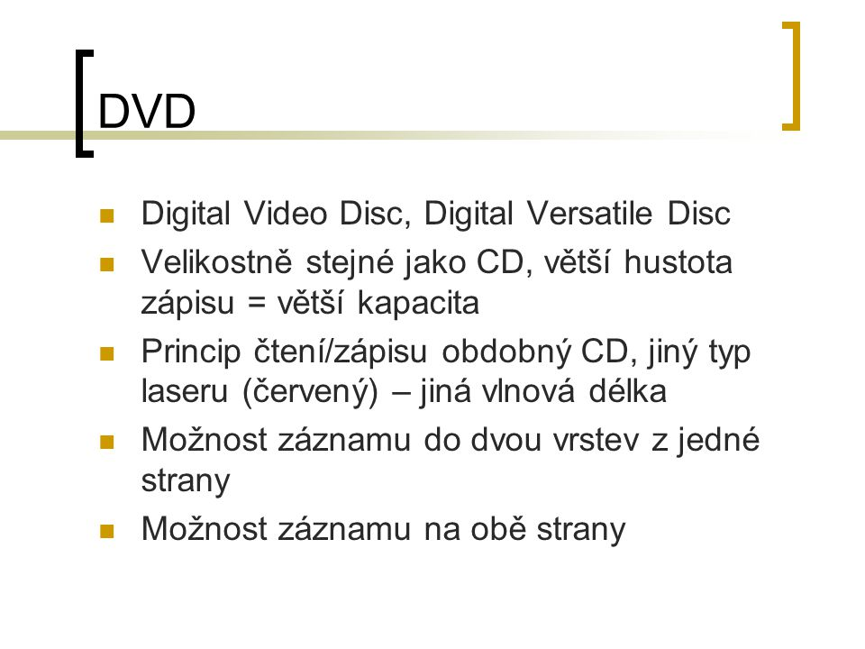 DVD Digital Video Disc, Digital Versatile Disc