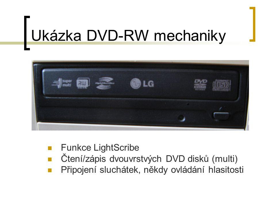 Ukázka DVD-RW mechaniky