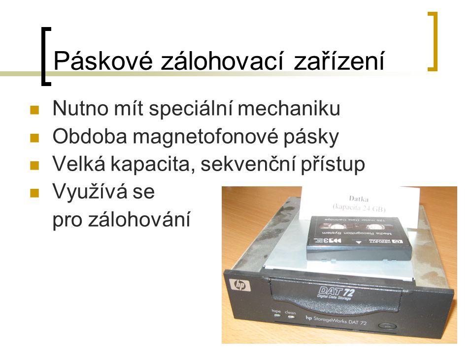 Páskové zálohovací zařízení
