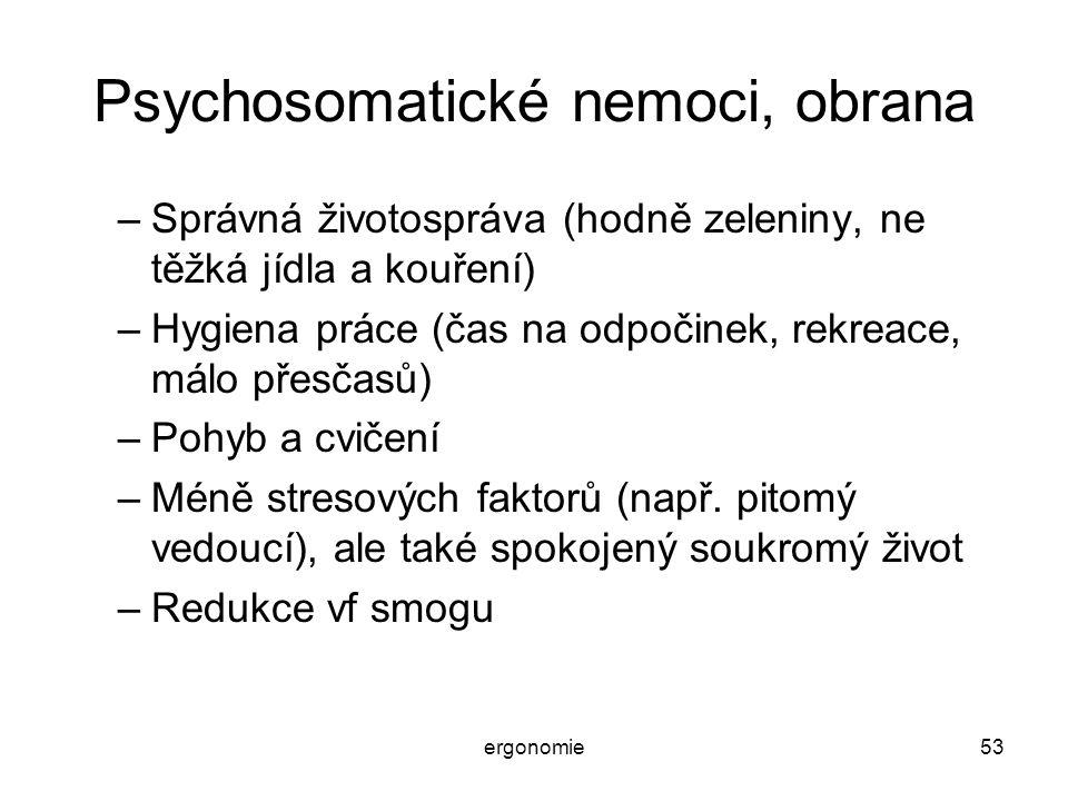 Psychosomatické nemoci, obrana