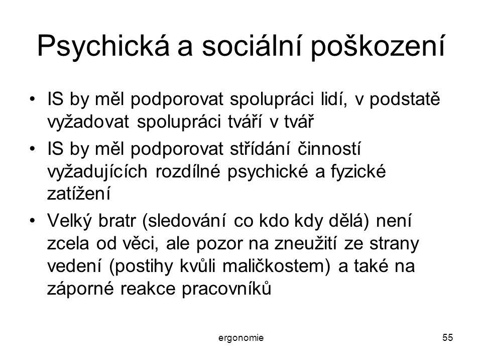 Psychická a sociální poškození