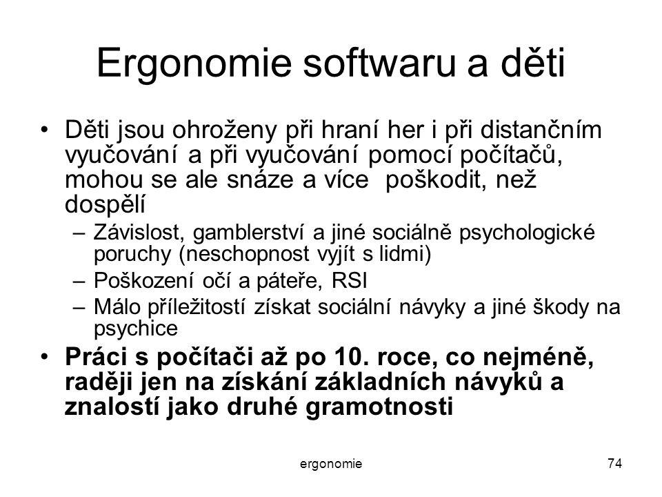 Ergonomie softwaru a děti