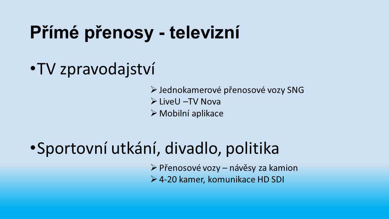 Přímé přenosy - televizní